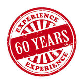 60 years experience grunge rubber stamp  — Stock Vector