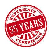 55 年的经验 grunge 橡皮戳 — 图库矢量图片