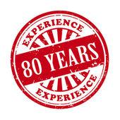 80 年的经验 grunge 橡皮戳 — 图库矢量图片
