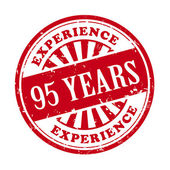 95 years experience grunge rubber stamp  — Stock Vector