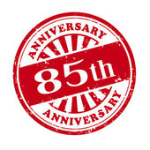 85th anniversary grunge rubber stamp  — Stock Vector