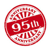 95th anniversary grunge rubber stamp  — Stock Vector