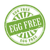 Egg free grunge rubber stamp  — Vector de stock