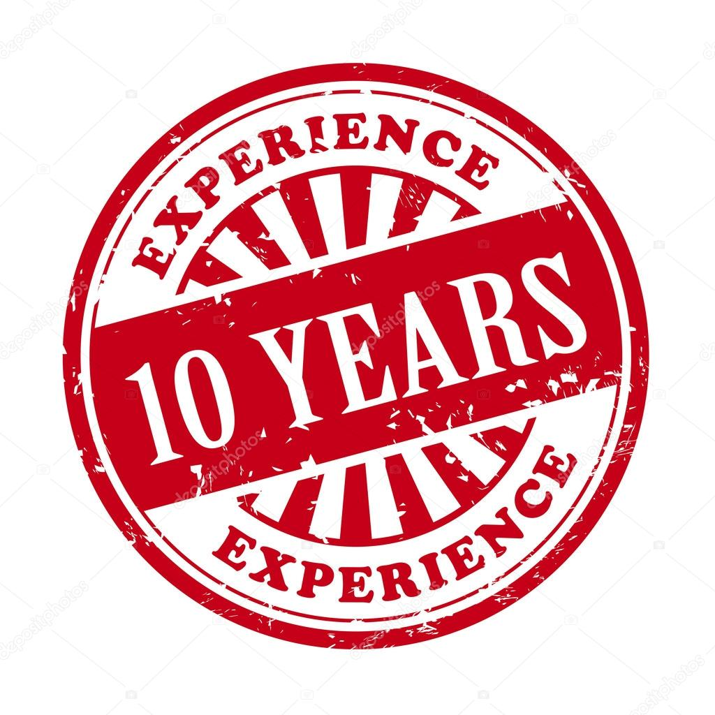 10 years experience grunge rubber stamp  u2014 stock vector  u00a9 kchungtw  43891975
