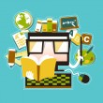 Flat design illustration concept of online education e-learning — Stock Vector
