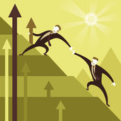 Flat design illustration concept of team work — Stock Vector