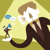 Flat design illustration concept of listen carefully — Stock Vector