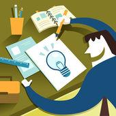 Flat design illustration concept of creative inspiration — Stock Vector