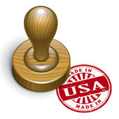 Made in USA grunge rubber stamp  — Stock Vector