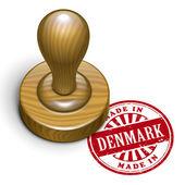 Made in Denmark grunge rubber stamp  — Stock Vector
