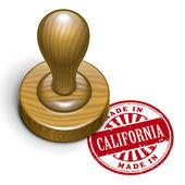 Gemaakt in californië grunge rubber stempel — Stockvector