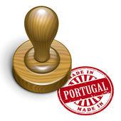 V portugalsku grunge razítko — Stock vektor