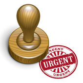 Urgent grunge rubber stamp  — Stock Vector