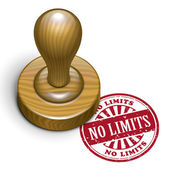 No limits grunge rubber stamp  — Stock Vector