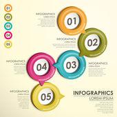 круг метки схема инфографика — Cтоковый вектор