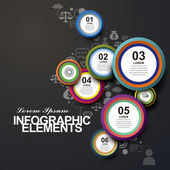Circle label infographic elements — Stock vektor