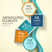 Geometry label infographic elements — Stock Vector