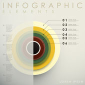 3d concentric infographic elements — Stock Vector