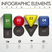 3d geometry infographic elements — Stock Vector