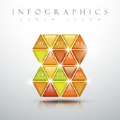 Glossy triangle graphic graphic infographic elements — Stock Vector