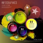 Elementos de arte abstracto círculo etiqueta infografía — Vector de stock