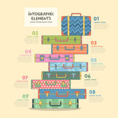 Travel suitcase infographics design — Stock Vector