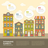 Real estate house infographics design — Stock Vector