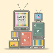 Television tower infographics design — Stock Vector
