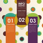 Creative circle infographics design — Stock Vector