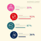 Creative histogram infographics design — Stock Vector