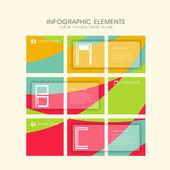 Creative fun infographics design — Stok Vektör