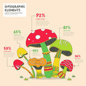 Creative mushrooms infographics design — Stock Vector