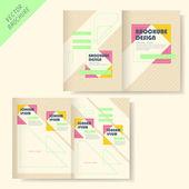 宣传册设计具条纹和线 — 图库矢量图片