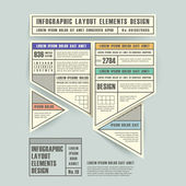 Infographic vectorelementen met origami label stijl — Stockvector