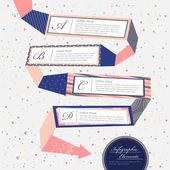 Creative flow chart infographics design — Stock Vector