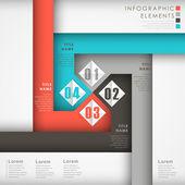 Abstraktní možnost infographic prvky — Stock vektor