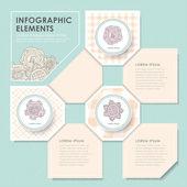 Creative flower infographics design — Stock Vector