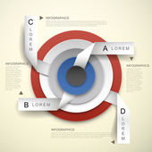 3d vector concentric and tag infographic elements — Vettoriale Stock