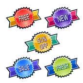 Discount price tags — Cтоковый вектор