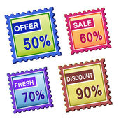 Discount price tags — Stock Vector