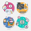 Set of flat design concept vector illustration — Stock Vector #45625327