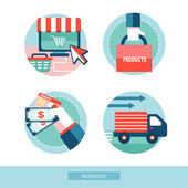 Set of flat design concept icons  — Stock Vector