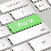 Concepto de compra en línea con teclado de la computadora — Vector de stock
