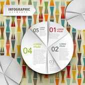 Vector abstract paper pie chart infographic elements — Stock Vector