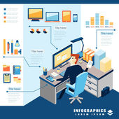 Office business infographic elements — Stock Vector
