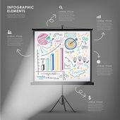 Vector illustration infographics elements design — Stock Vector