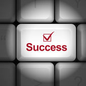 Success concept with computer keyboard — Stock Vector