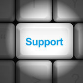 Support concept with computer keyboard — Stock Vector
