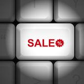 コンピューターのキーボードとの広告の概念 — ストックベクタ