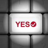 Concordo o conceito com o teclado do computador — Vetor de Stock